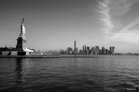 Liberty looking at Manhattan